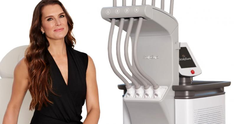 Brooke Shields with SculpSure product